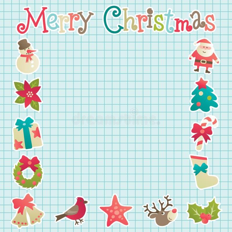 Boże Narodzenia obramiają dla kartka z pozdrowieniami royalty ilustracja