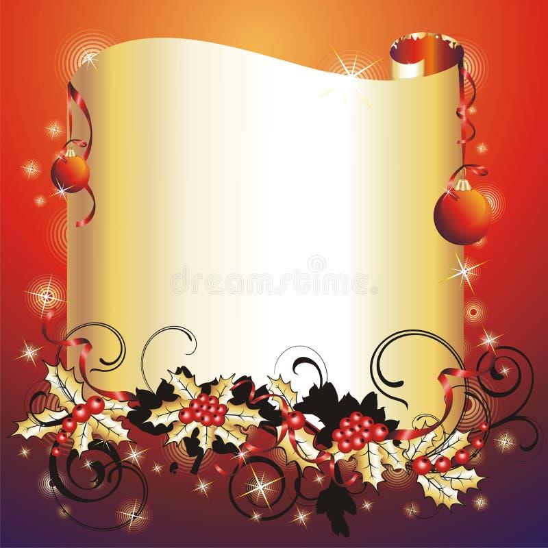 boże narodzenia obramiają s nowego rok ilustracji