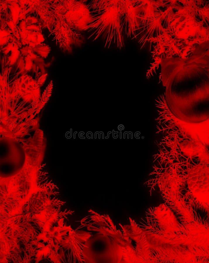 Boże Narodzenia obramiają - tylko czerwień zdjęcie royalty free