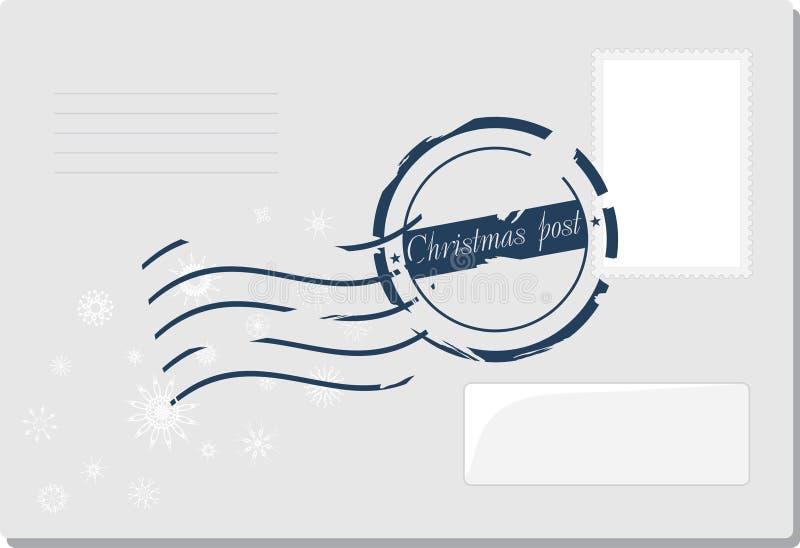 Boże Narodzenia odkrywają z poczta znaczkiem royalty ilustracja