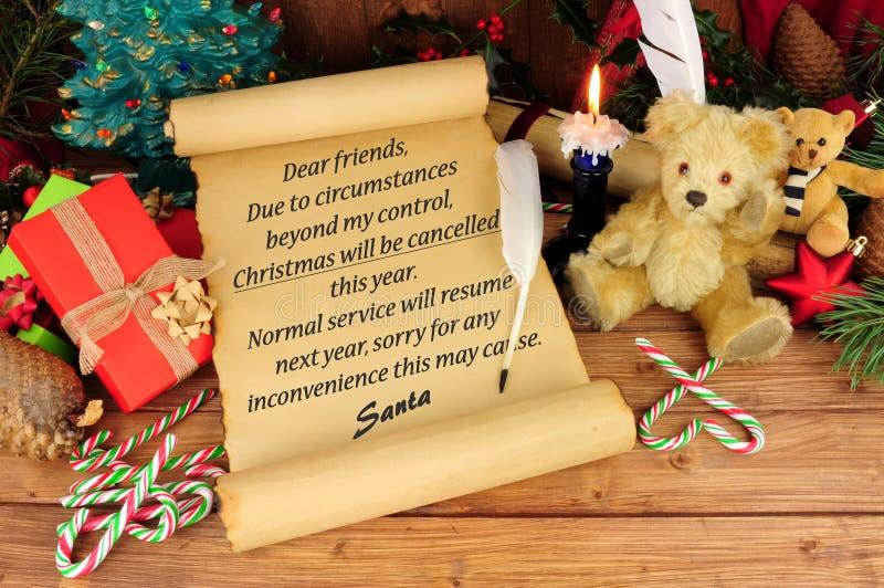Boże Narodzenia odwoływający fotografia royalty free