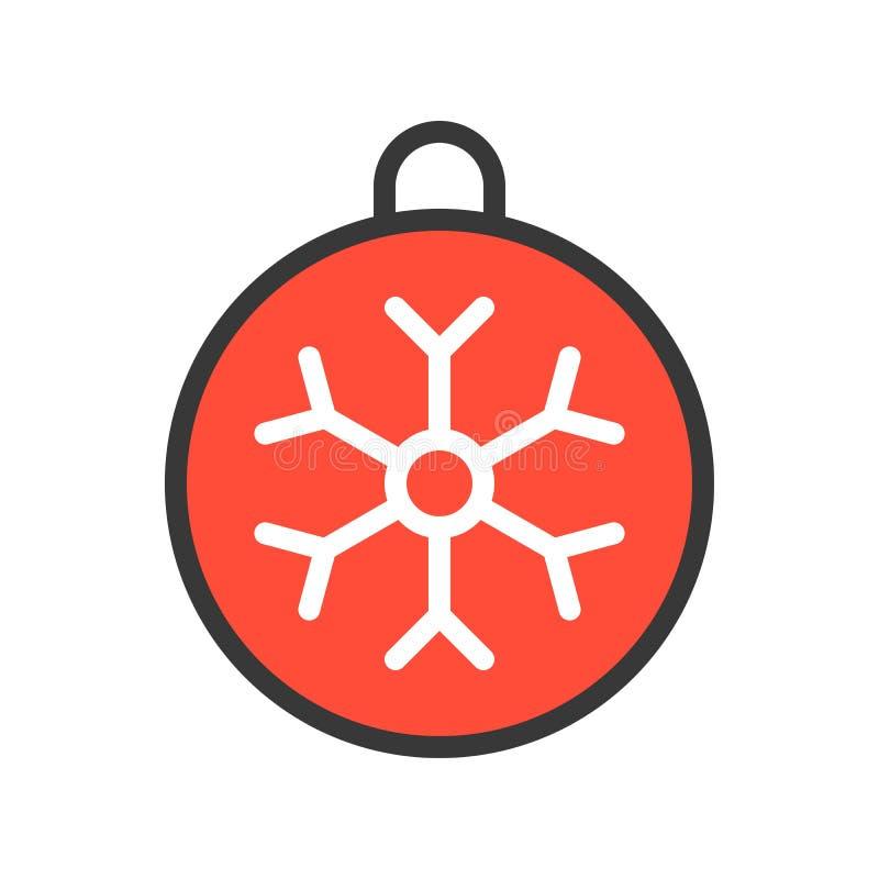 Boże Narodzenia ornamentują, Wesoło bożych narodzeń ikony odnosić sie set, wypełniający za royalty ilustracja