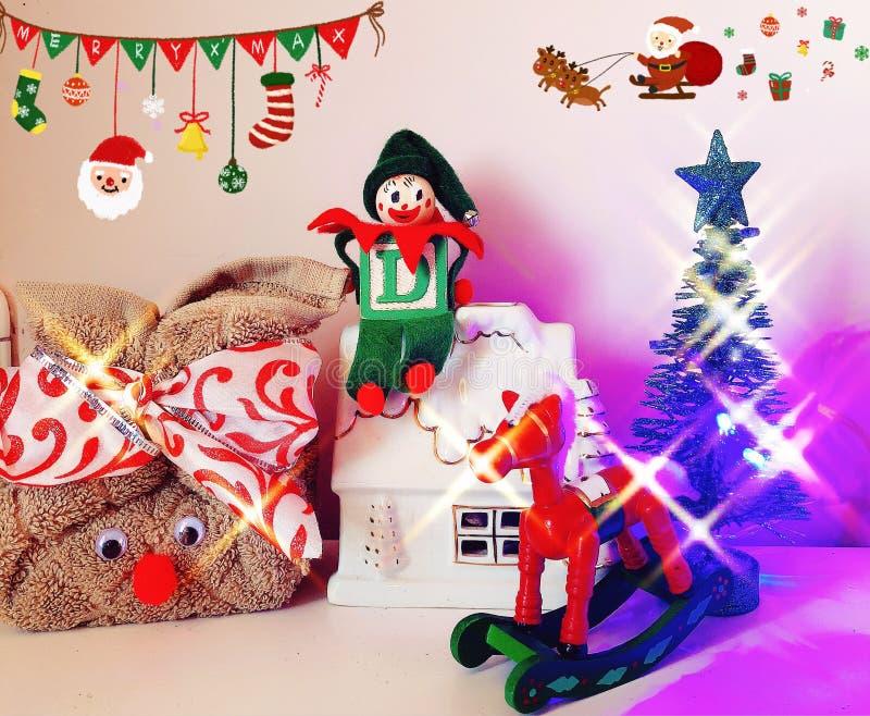 Boże Narodzenia ornamentują zaświecają up zdjęcie stock