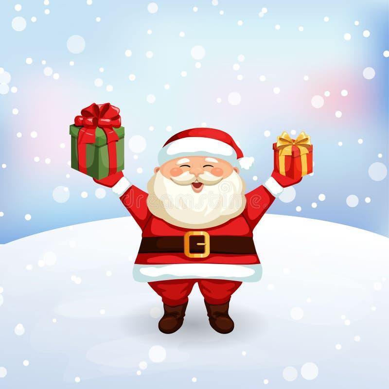 Boże Narodzenia piszą list Święty Mikołaj ilustracja wektor