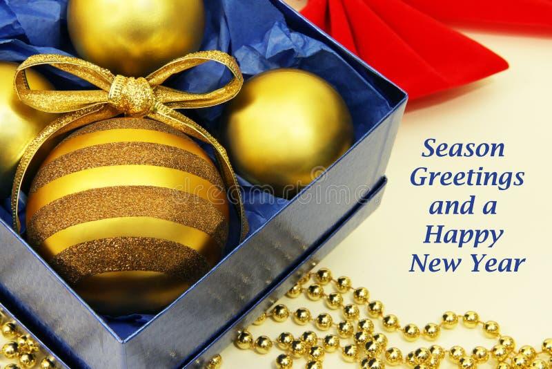 Boże Narodzenia projektują z wakacyjnymi powitaniami zdjęcie stock