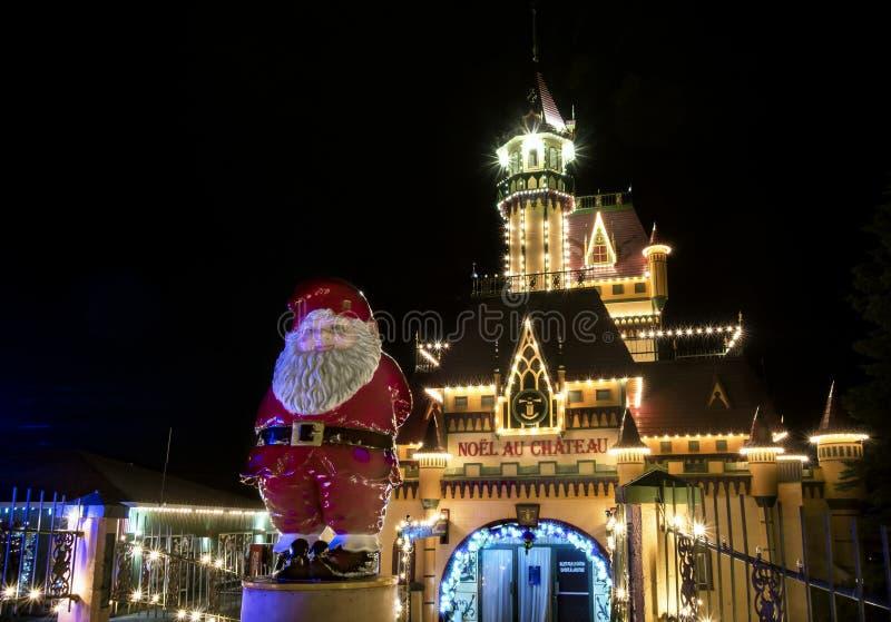 Boże Narodzenia przy Grodową nocy sceną obrazy stock