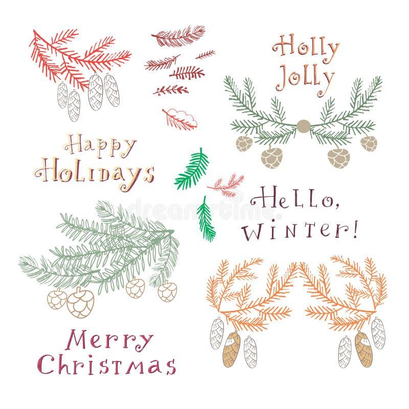 Boże Narodzenia set8 ilustracji