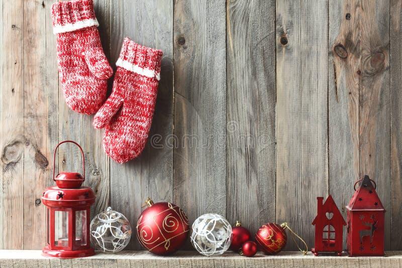 Boże Narodzenia stwarzają ognisko domowe wystrój obrazy royalty free