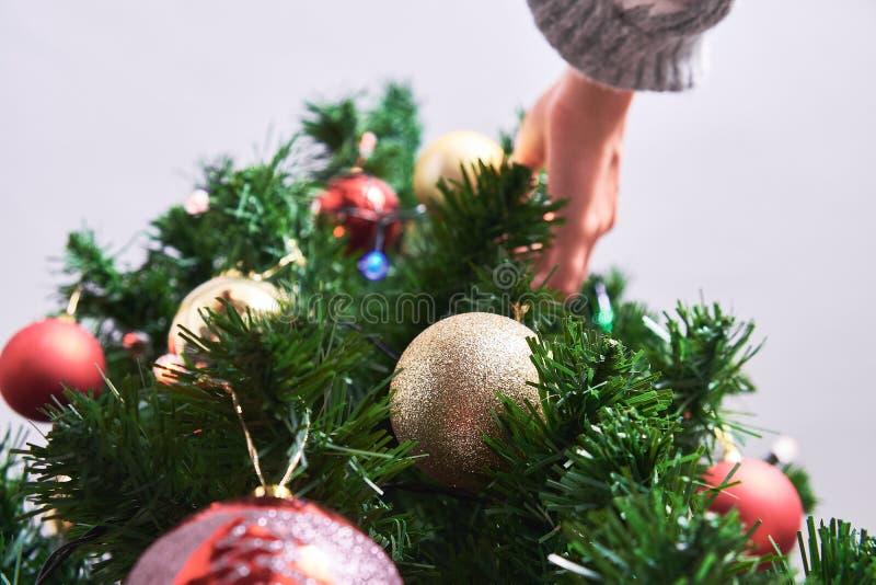 boże narodzenia target1467_0_ drzewnej kobiety obraz stock