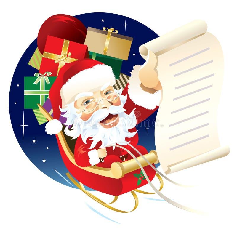 boże narodzenia target2307_0_ prezenty Santa ilustracji
