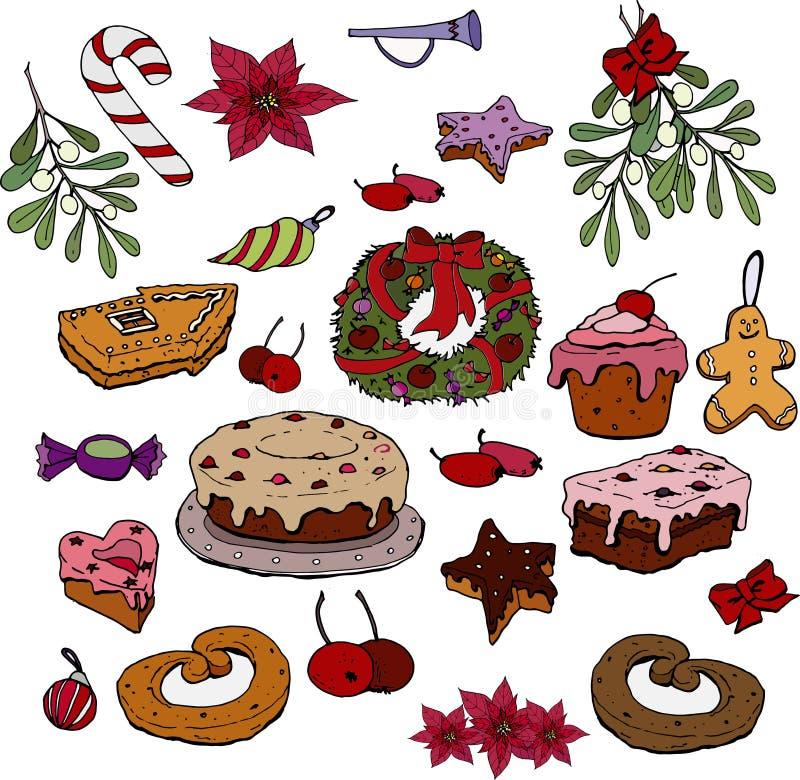Boże Narodzenia ustawiający royalty ilustracja