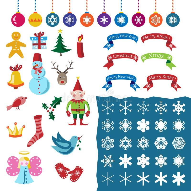 Boże Narodzenia ustawiający, część jeden ilustracja wektor