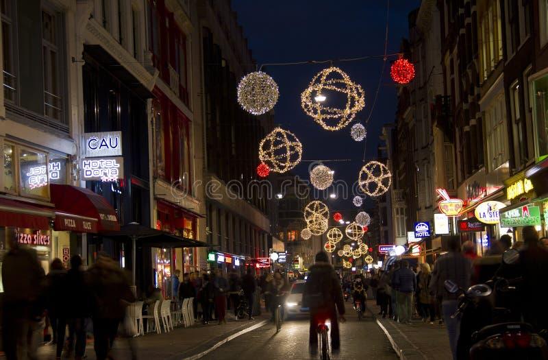 Boże Narodzenia w Amsterdam fotografia royalty free