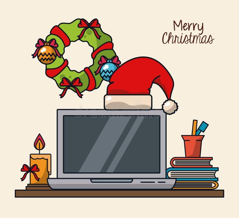 Boże Narodzenia w biurze ilustracji