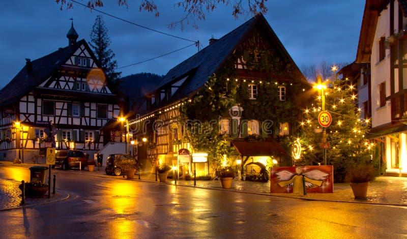 Boże Narodzenia w Haslach, Niemcy zdjęcia stock
