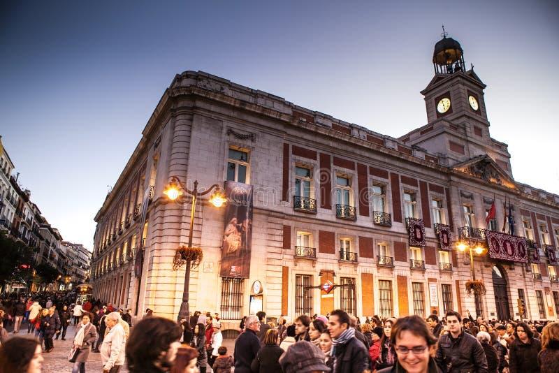 Boże Narodzenia w Madryt obrazy royalty free