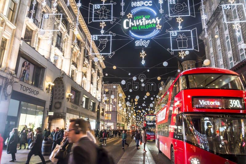 Boże Narodzenia w Oxford Street, Londyn, UK obrazy royalty free