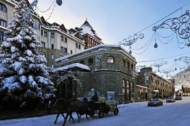 Boże Narodzenia w St. Moritz fotografia stock
