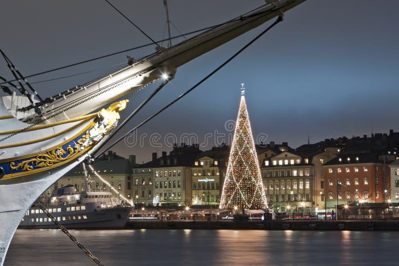 Boże Narodzenia w Sztokholm obrazy royalty free
