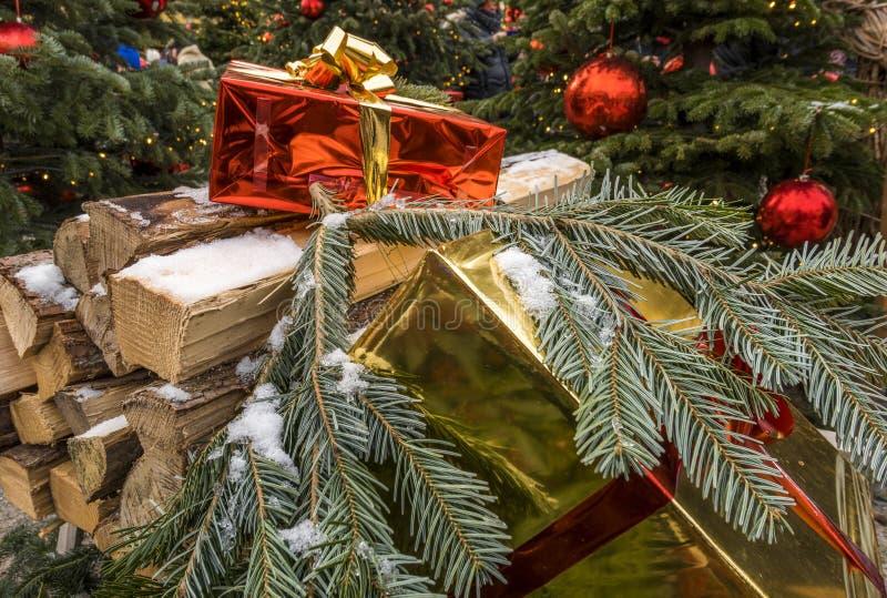 Boże Narodzenia Wprowadzać na rynek Hellbrunn pałac, Salzburg, Austria zdjęcie royalty free