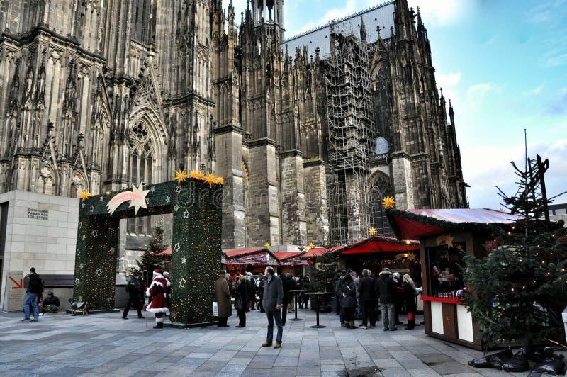 Boże Narodzenia wprowadzać na rynek w cologne, Niemcy obraz royalty free