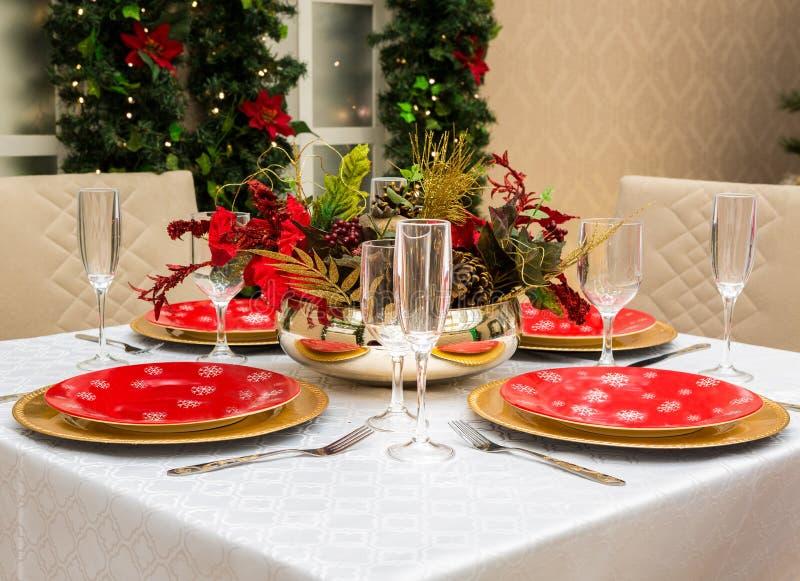 Boże Narodzenia zgłaszają położenie dla świętowania w domu obrazy stock