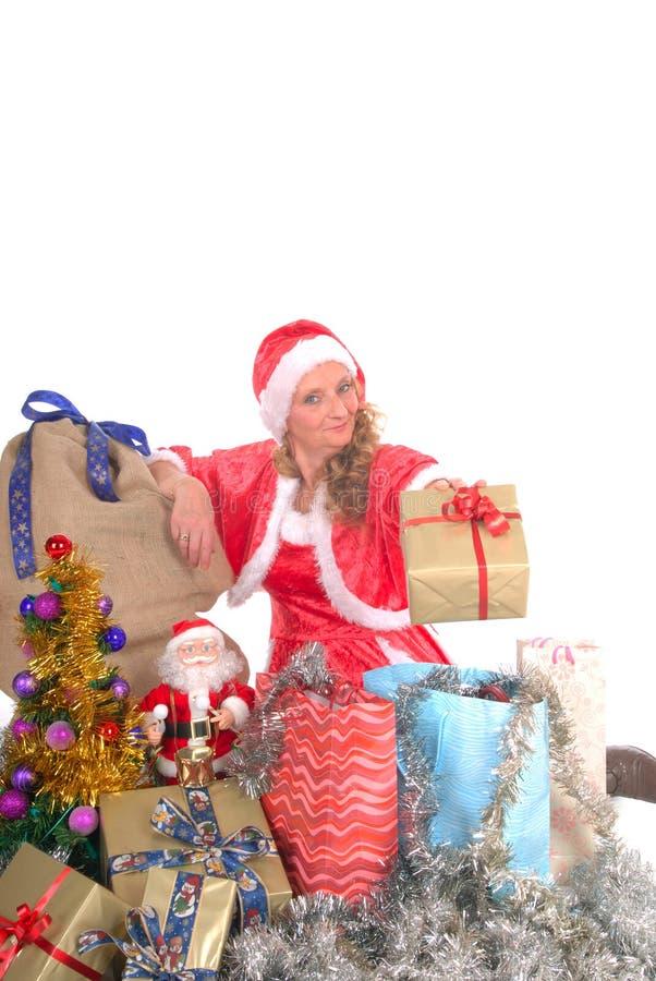 boże narodzenie świąt kobiety obraz stock