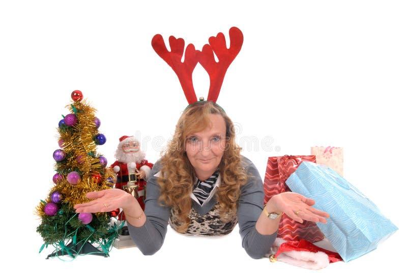 boże narodzenie świąt kobiety zdjęcia stock