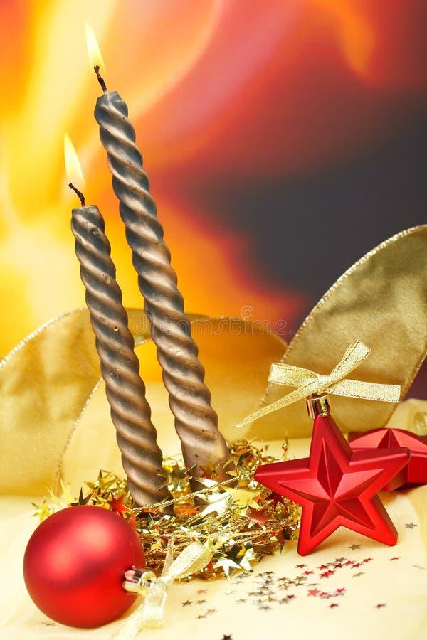 boże narodzenie świece. obraz royalty free