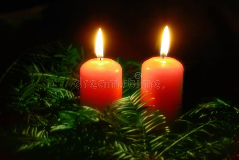 boże narodzenie świece. obrazy royalty free