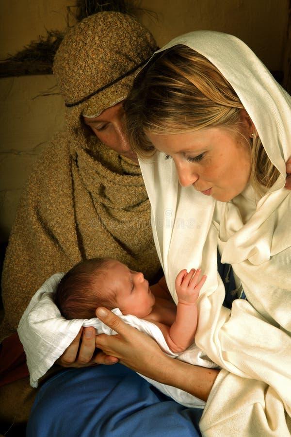 boże narodzenie żłób obrazy stock