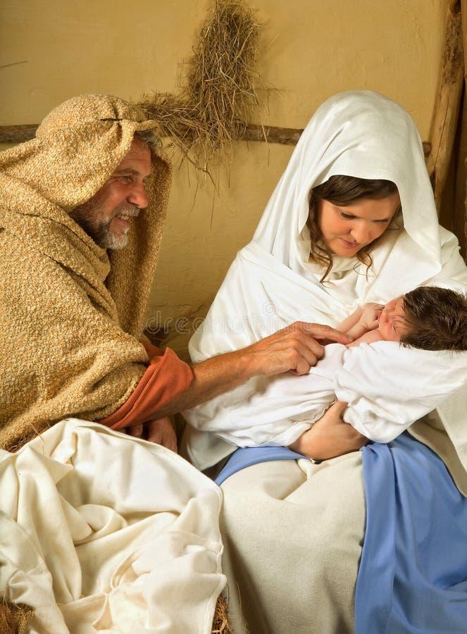 Boże Narodzenie żywa scena fotografia stock