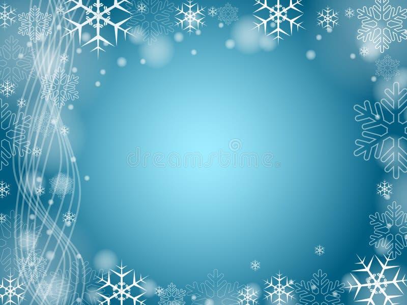 Boże Narodzenie 2 błękitny płatka śniegu ilustracja wektor