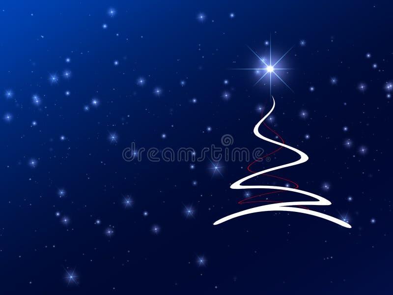 boże narodzenie abstrakcyjnych gwiazdy drzewne ilustracja wektor