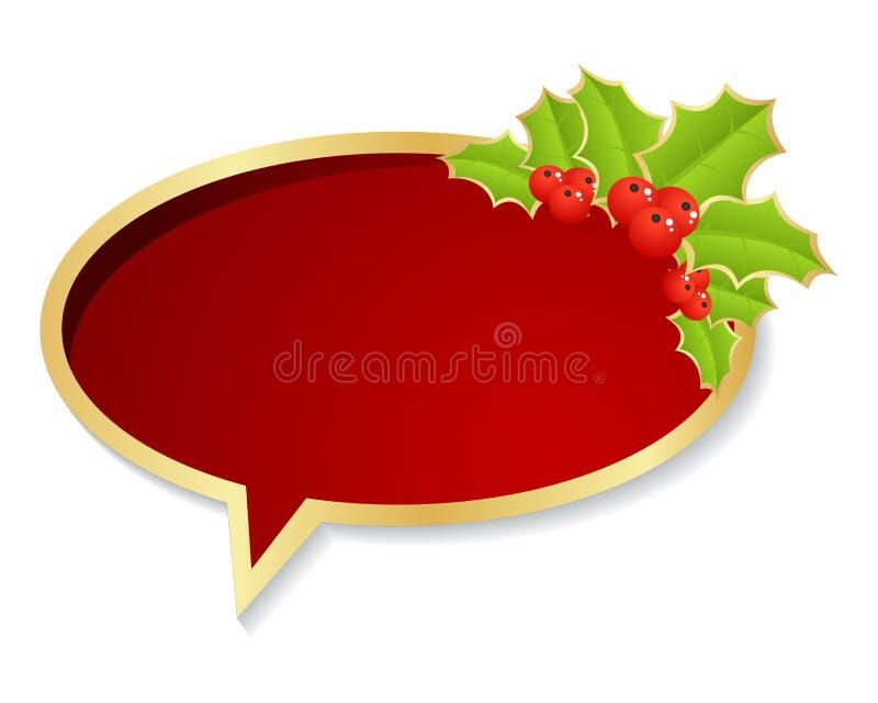 Boże Narodzenie bąbla mowa royalty ilustracja