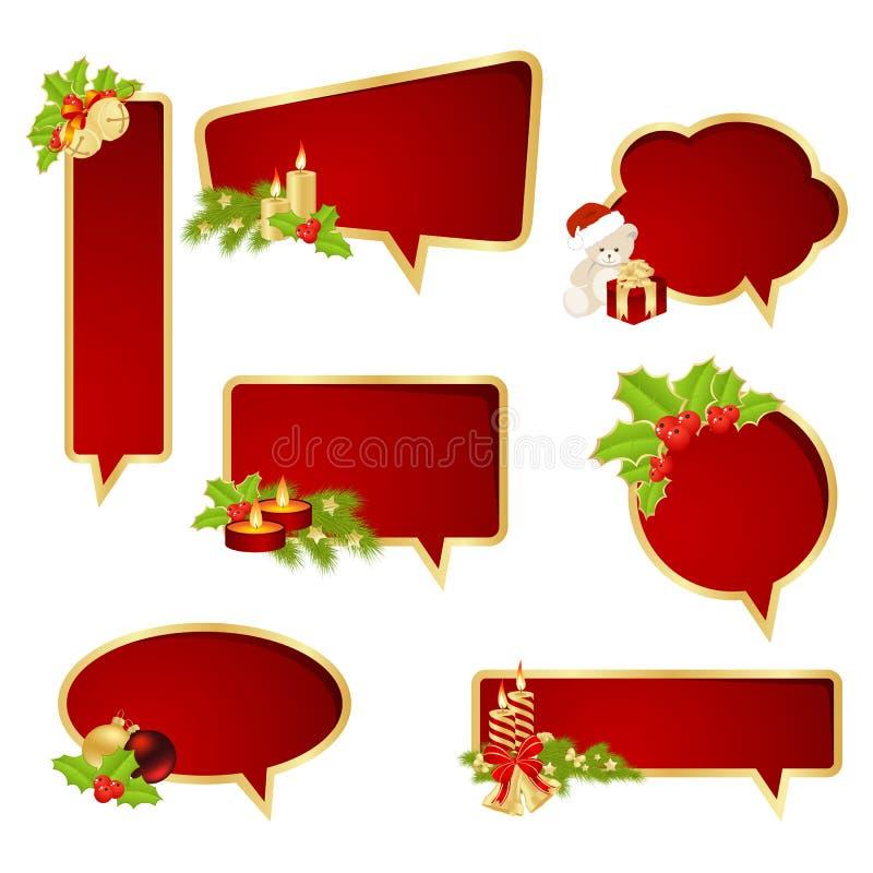 Boże Narodzenie bąbli mowa ilustracji