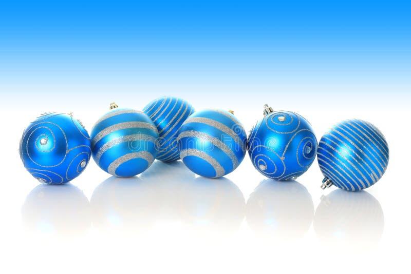 boże narodzenie błękitny ornamenty obrazy stock