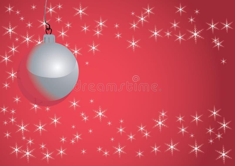 boże narodzenie balowi płatek śniegu ilustracja wektor
