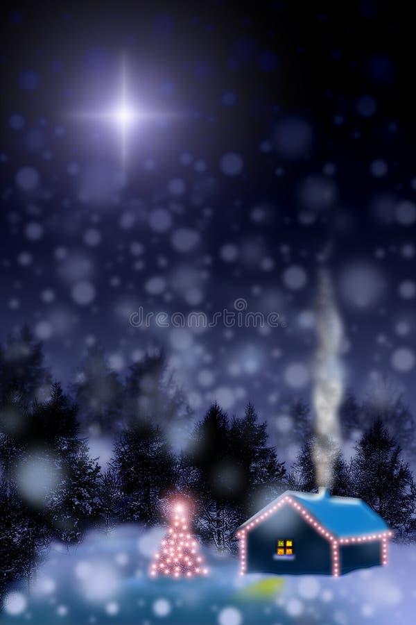 boże narodzenie, cud gwiazdy ilustracja wektor