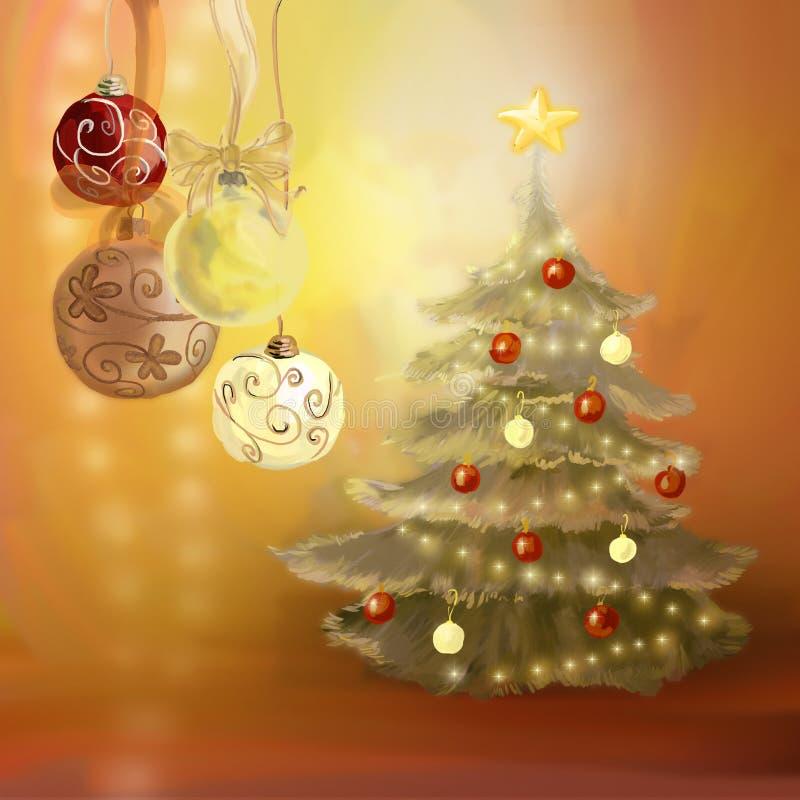boże narodzenie dekoracje ilustracja wektor