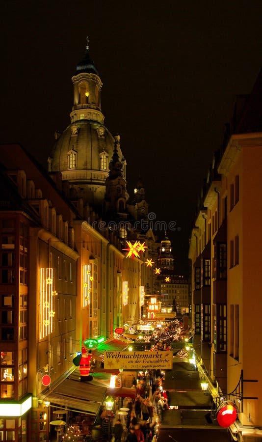 Boże Narodzenie drezdeński rynek fotografia stock