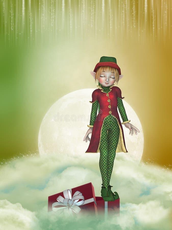 boże narodzenie elf royalty ilustracja
