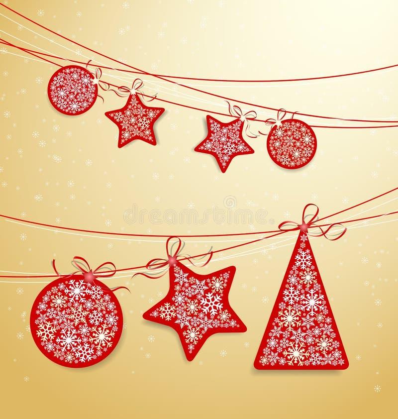Boże Narodzenie etykietka royalty ilustracja