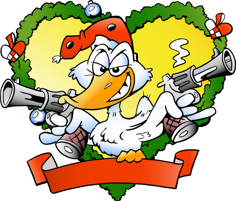 boże narodzenie gniewna kaczka ilustracja wektor