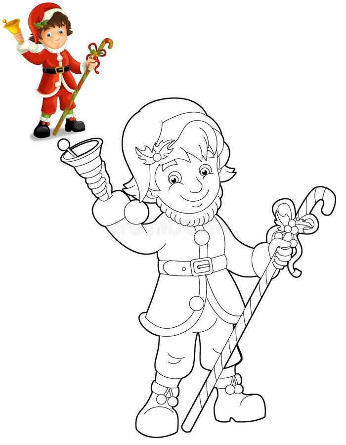 Boże Narodzenie gnom ilustracja dla dzieci - drawrf - ilustracja wektor
