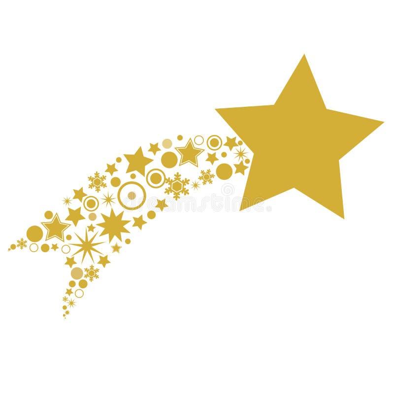 Boże Narodzenie gwiazda Betlejem ikona - Wektorowa ilustracja royalty ilustracja