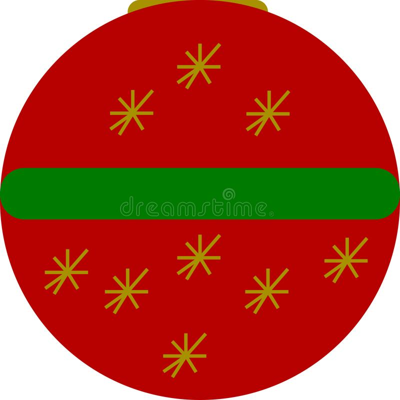 Boże Narodzenie gwiazdy Balowe ilustracja wektor