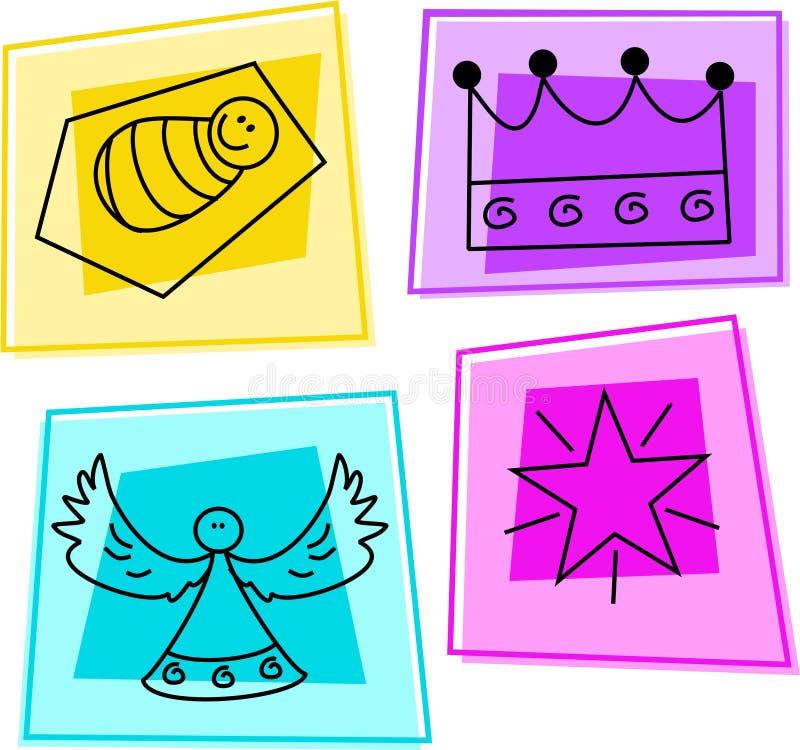 boże narodzenie ikony ilustracji