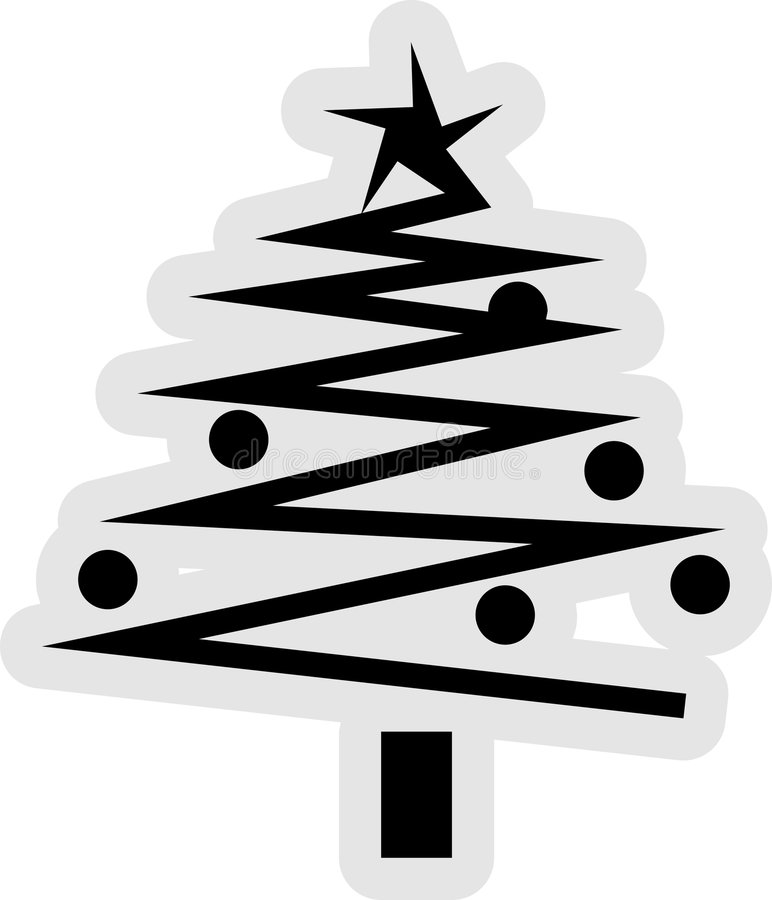 boże narodzenie ikony drzewo ilustracja wektor