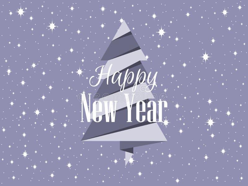 boże narodzenie ilustracja grać główna rolę drzewo wektor nowy rok, wektor ilustracja wektor